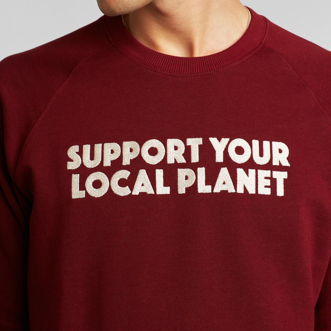 Sweatshirt Malmoe Bold Support Burgundy