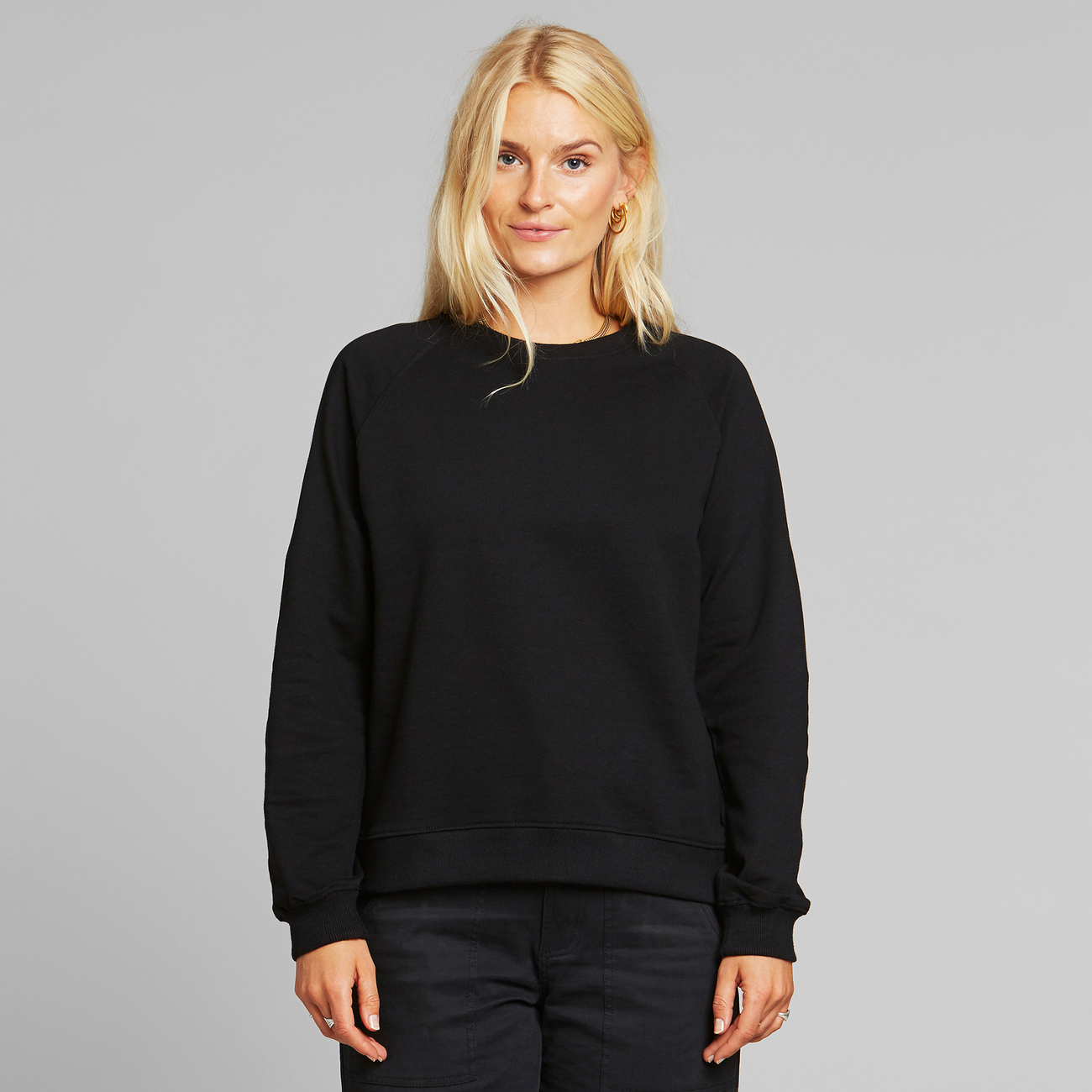 Sweatshirt Ystad Raglan Base Black
