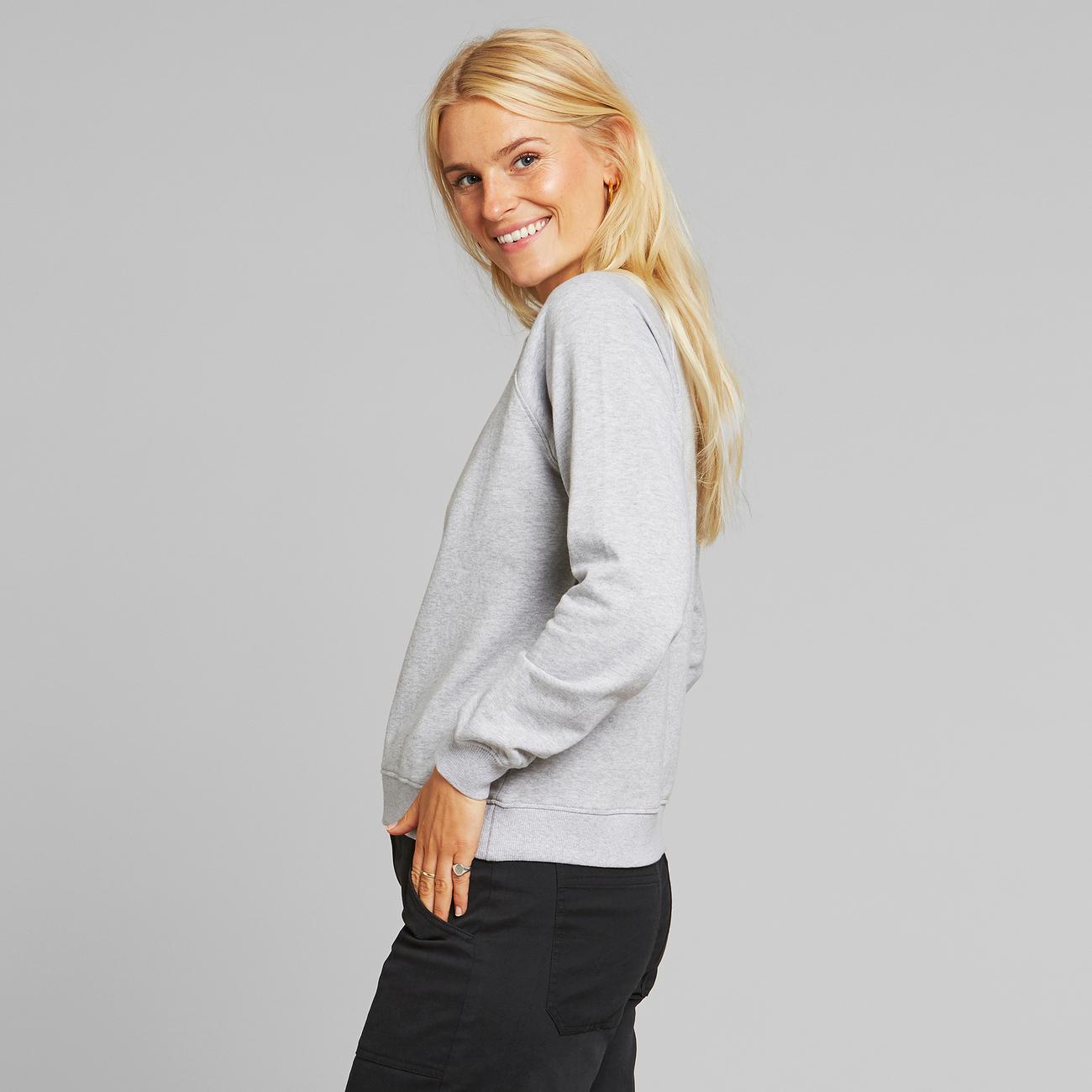 Sweatshirt Ystad Raglan Grey Melange