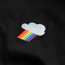 Sweatshirt Ystad Raglan Rainbow Cloud