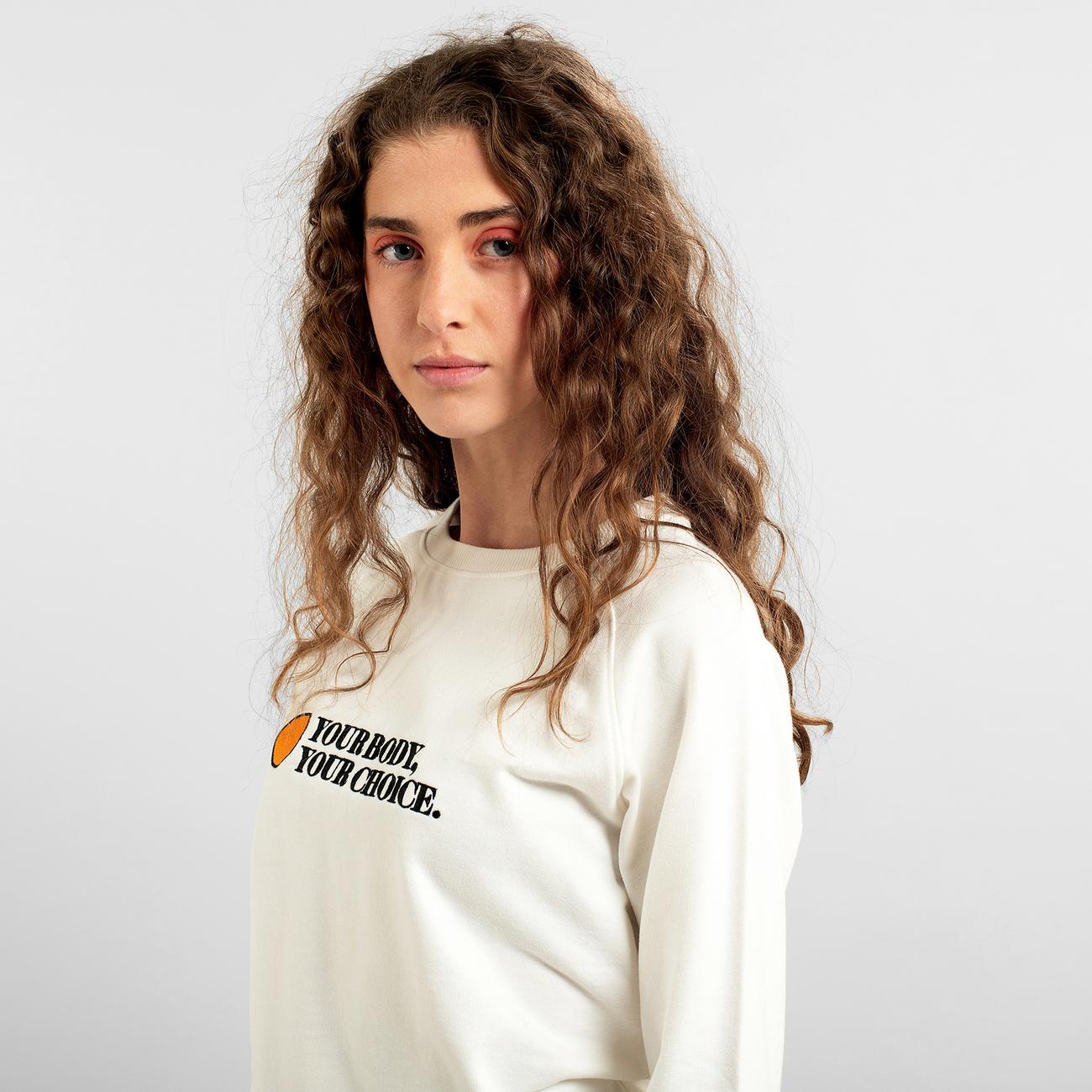 Sweatshirt Ystad Raglan Your Body Off-White