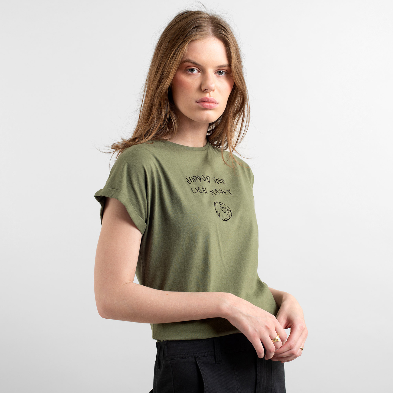 T-shirt Visby Local Planet Leaf Green