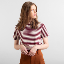 T-shirt Mysen Stripes Burgundy