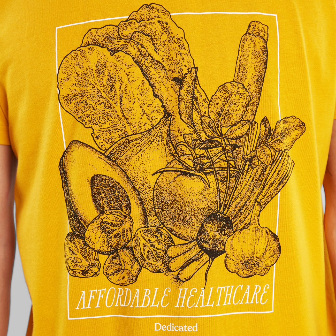 T-shirt Stockholm Affordable Healthcare Golden Yellow