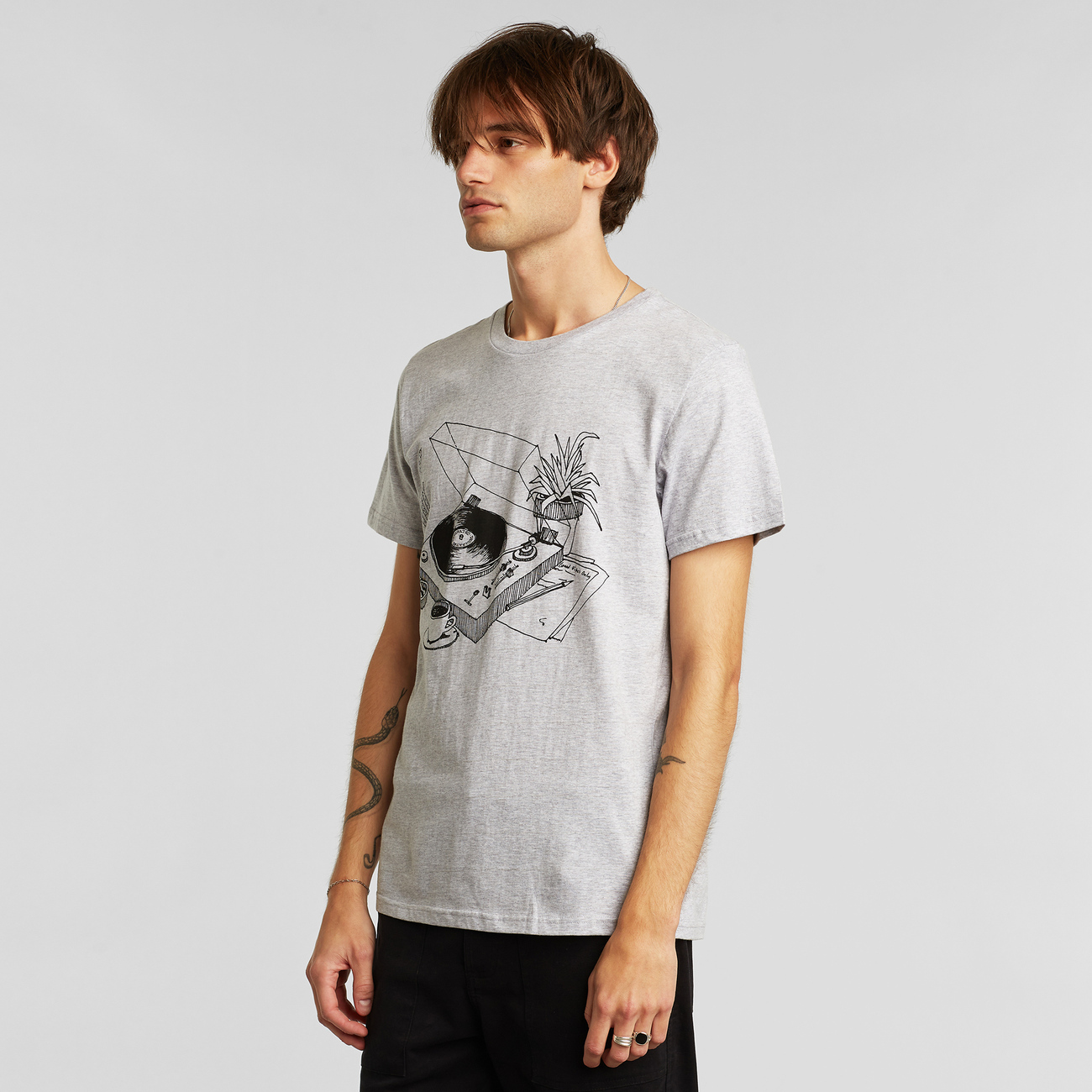 T-shirt Stockholm Coffee Vinyl Grey Melange