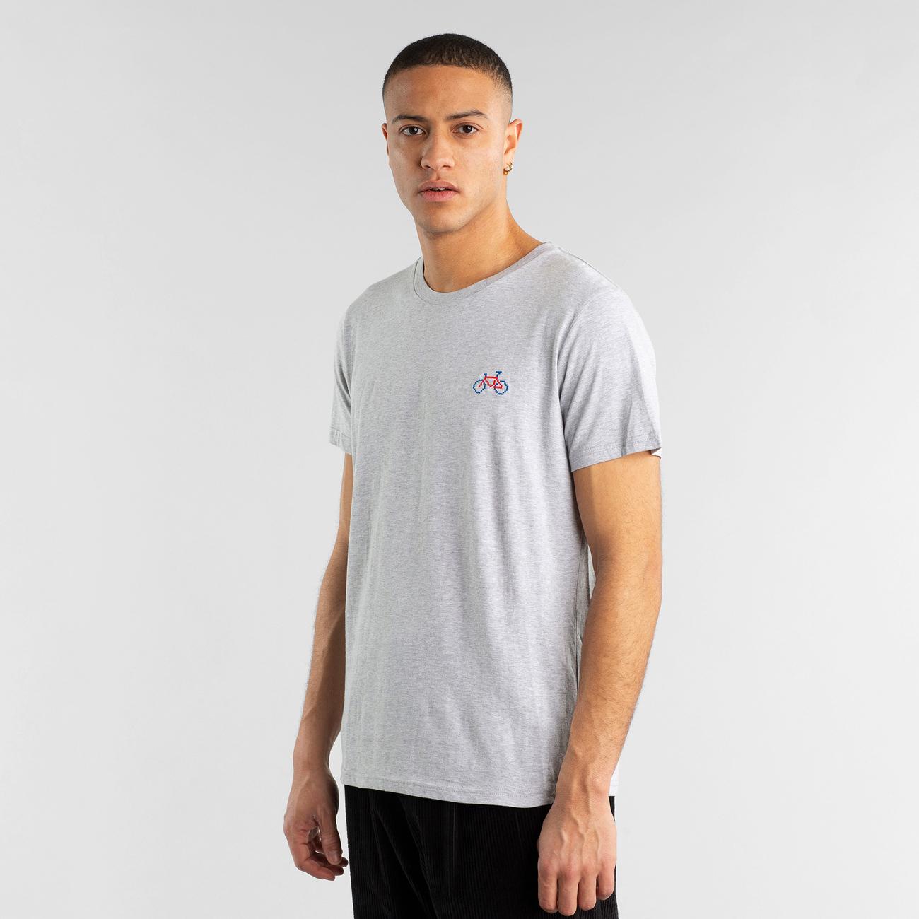 T-shirt Stockholm Stitch Bike Grey Melange
