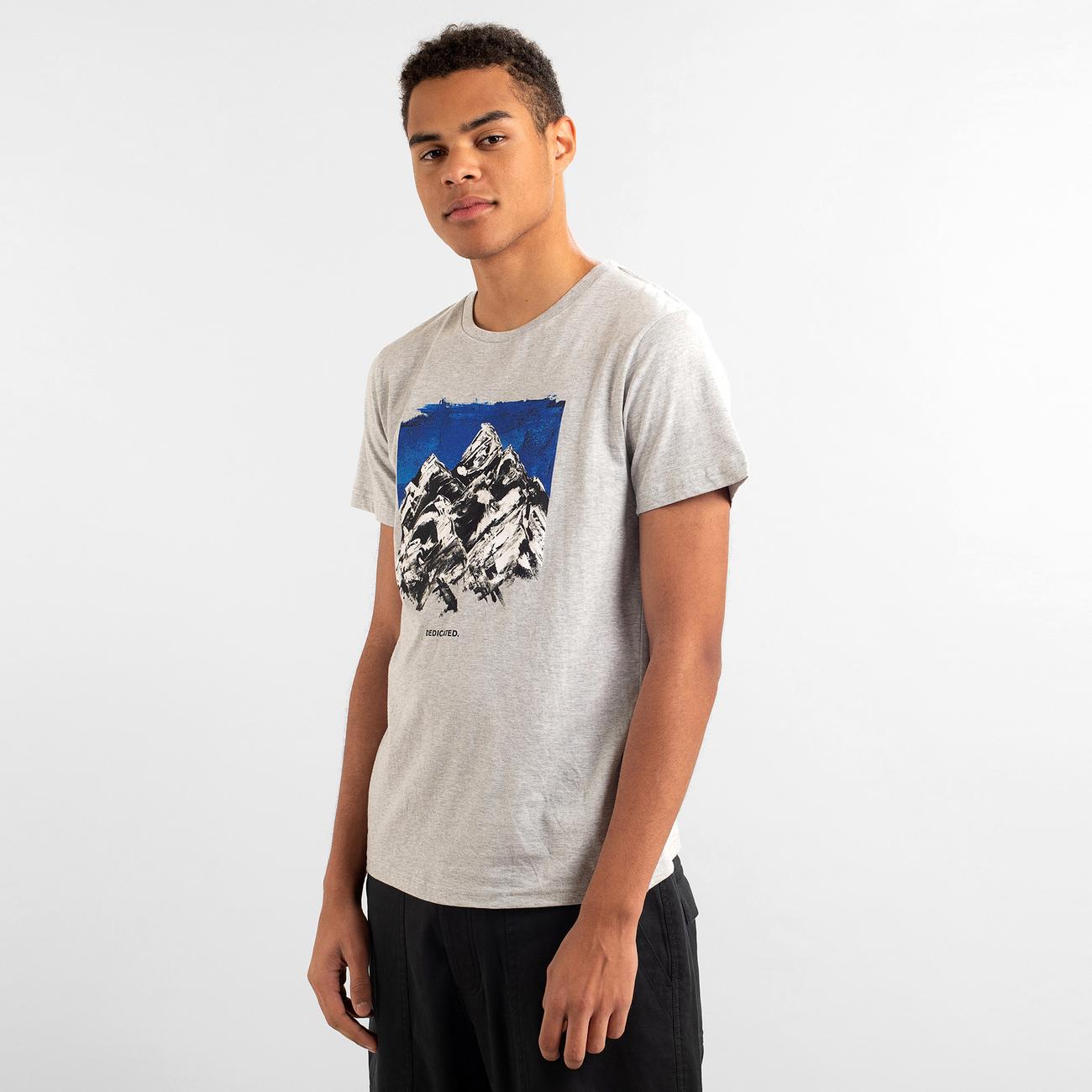 T-shirt Stockholm Drawn Mountain Grey Melange