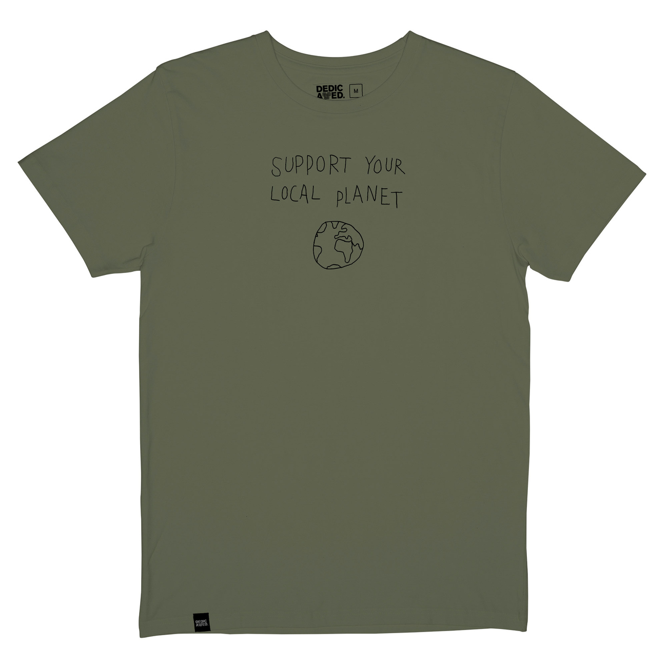 T-shirt Stockholm Local Planet Leaf Green