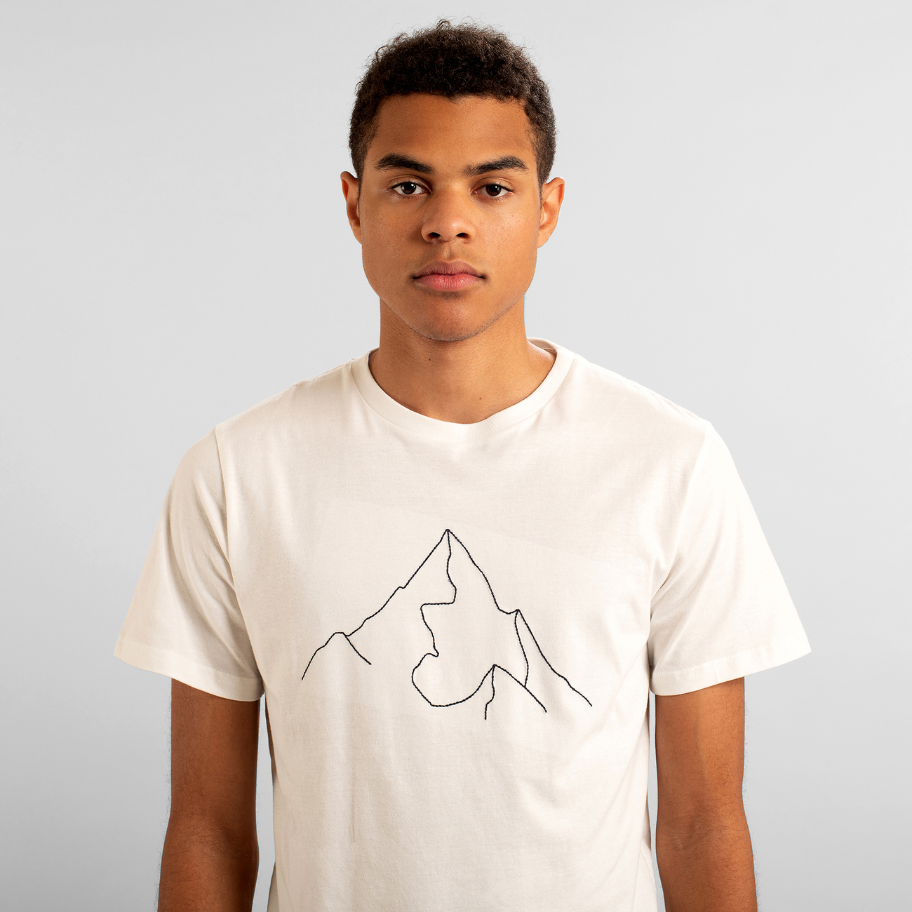 T-shirt Stockholm Mountain Off-White