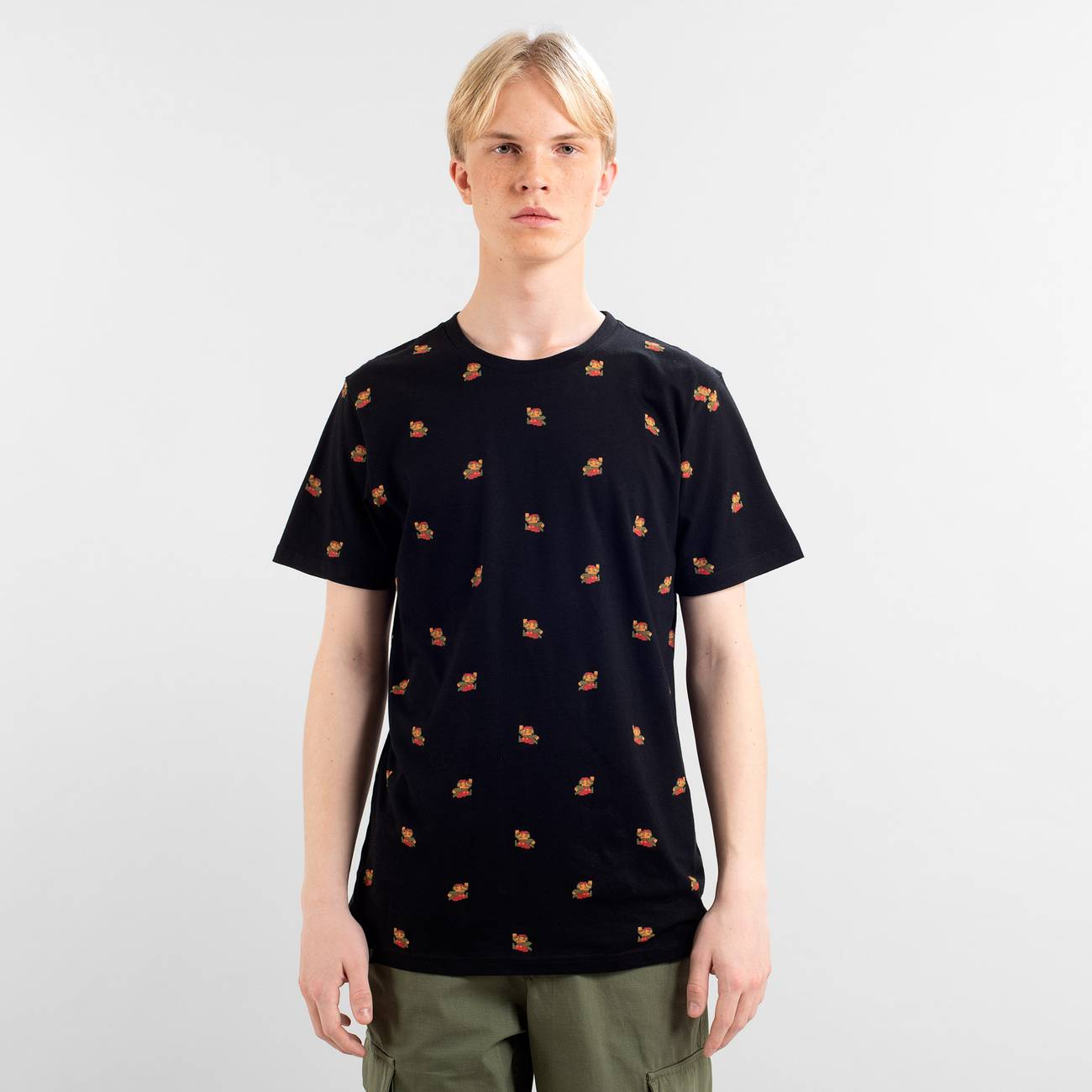 T-shirt Stockholm Super Mario Pattern Black