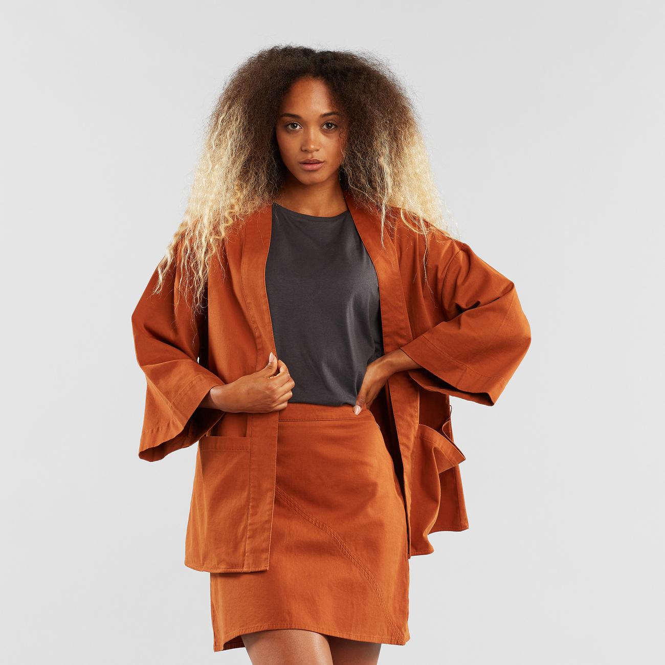 Kimono Allerum Mocha Brown