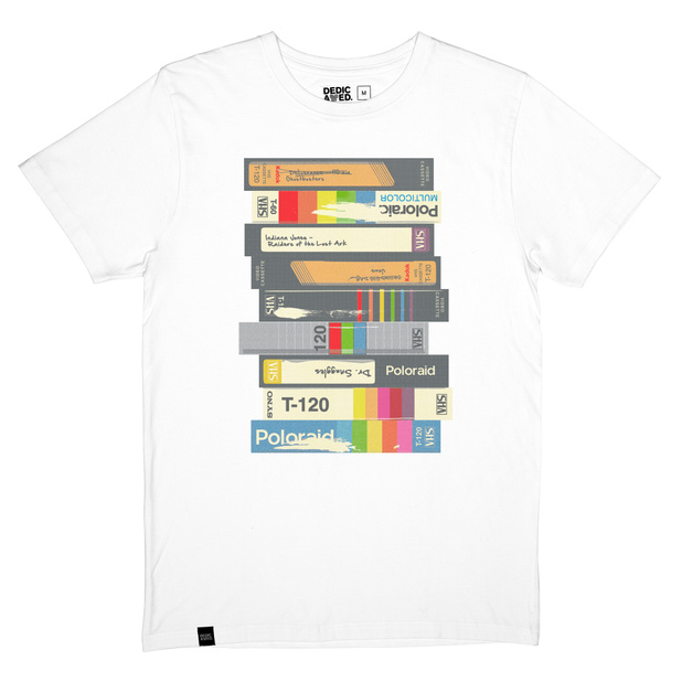 T-shirt Stockholm Video Retro White