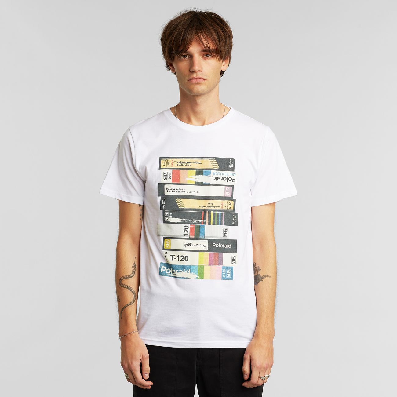 T-shirt Stockholm Video Retro White