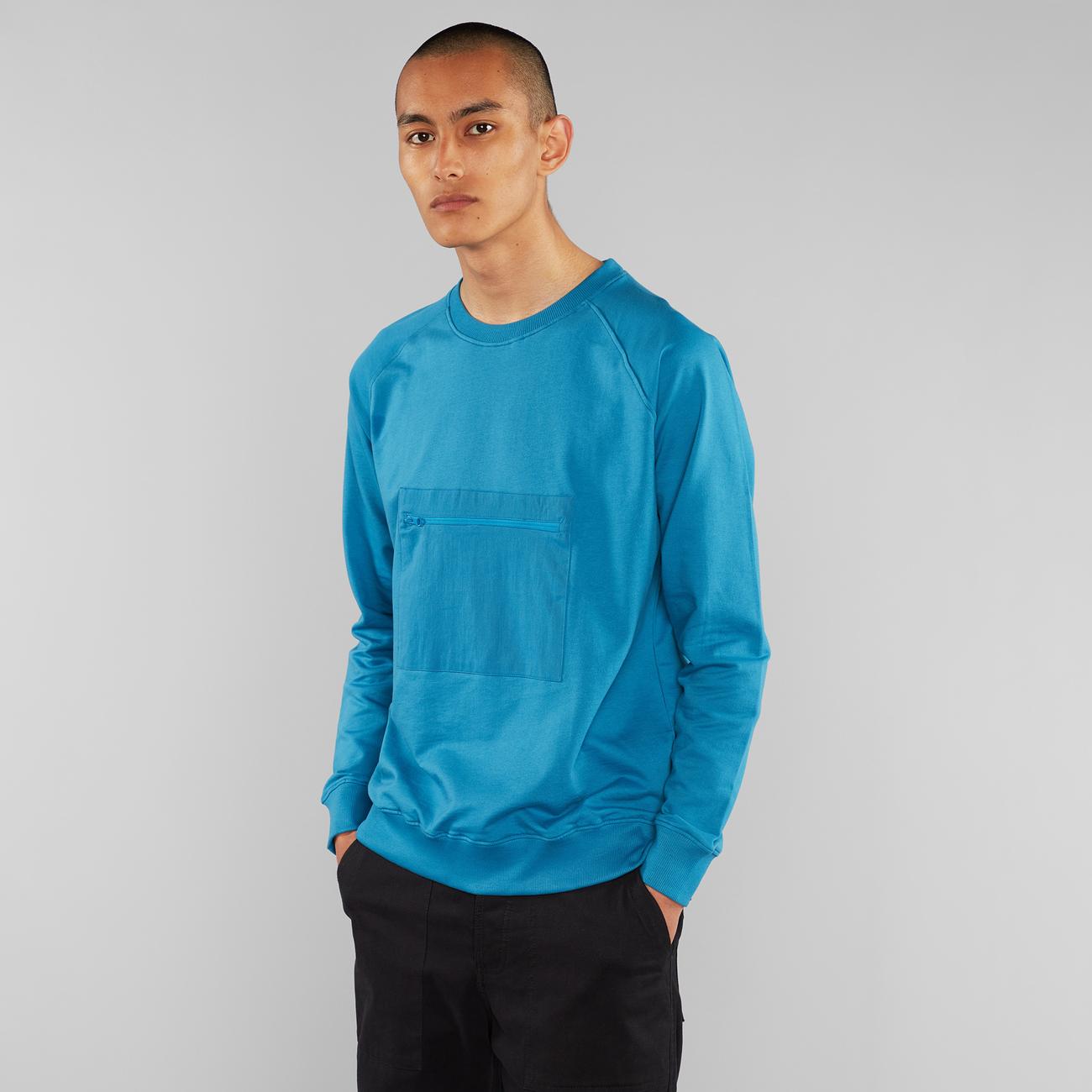 Sweatshirt Malmoe Pocket Turquoise
