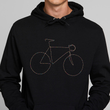 Hoodie Falun Rainbow Bicycle Black