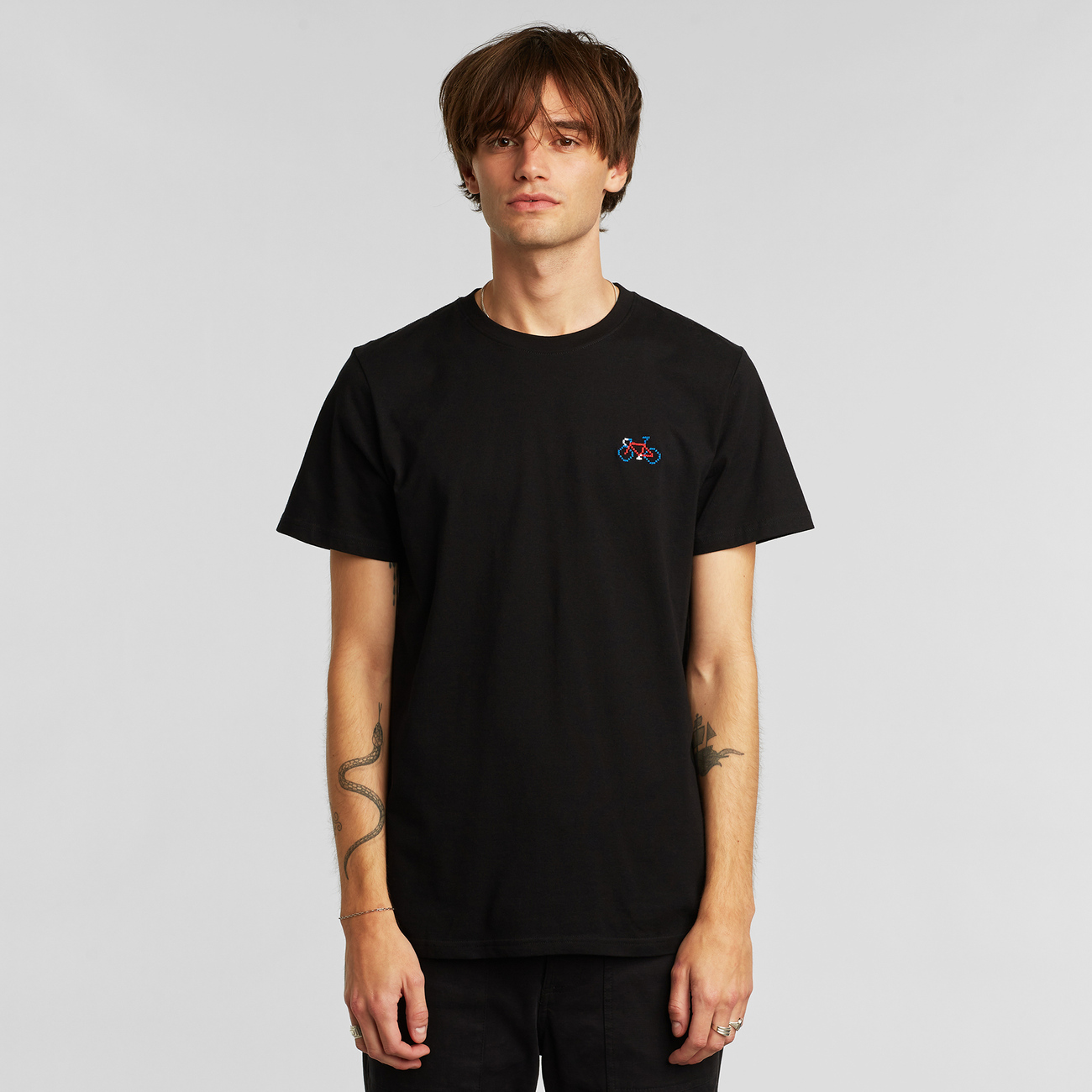 T-shirt Stockholm Stitch Bike Black