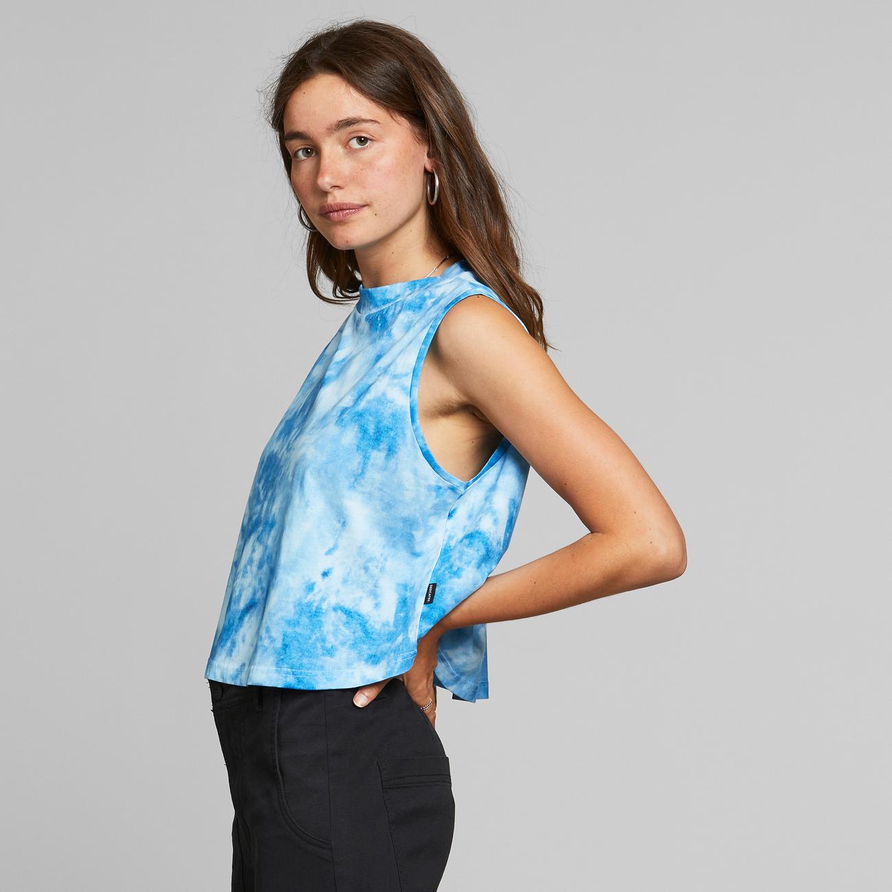 Top Namsos Tie Dye Blue