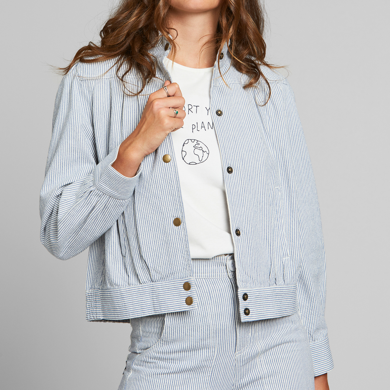 Jacket Ljungby Stripe Blue