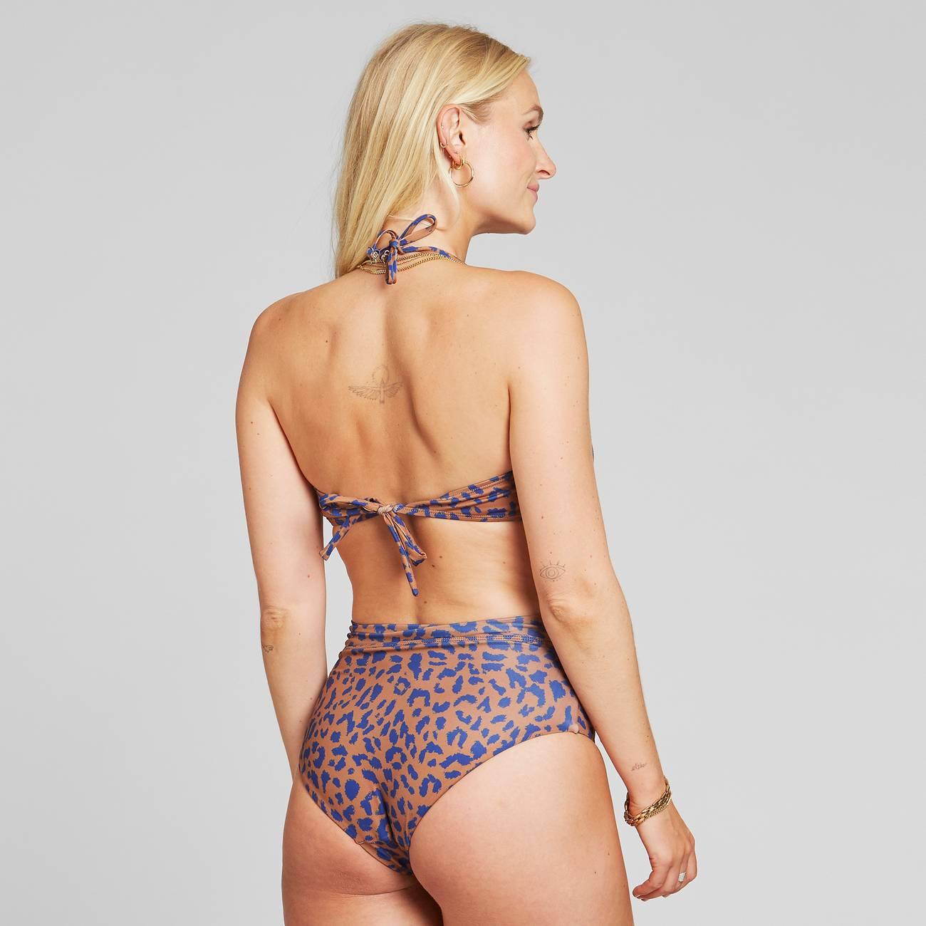 Bikini Top Kovik Leopard Light Brown