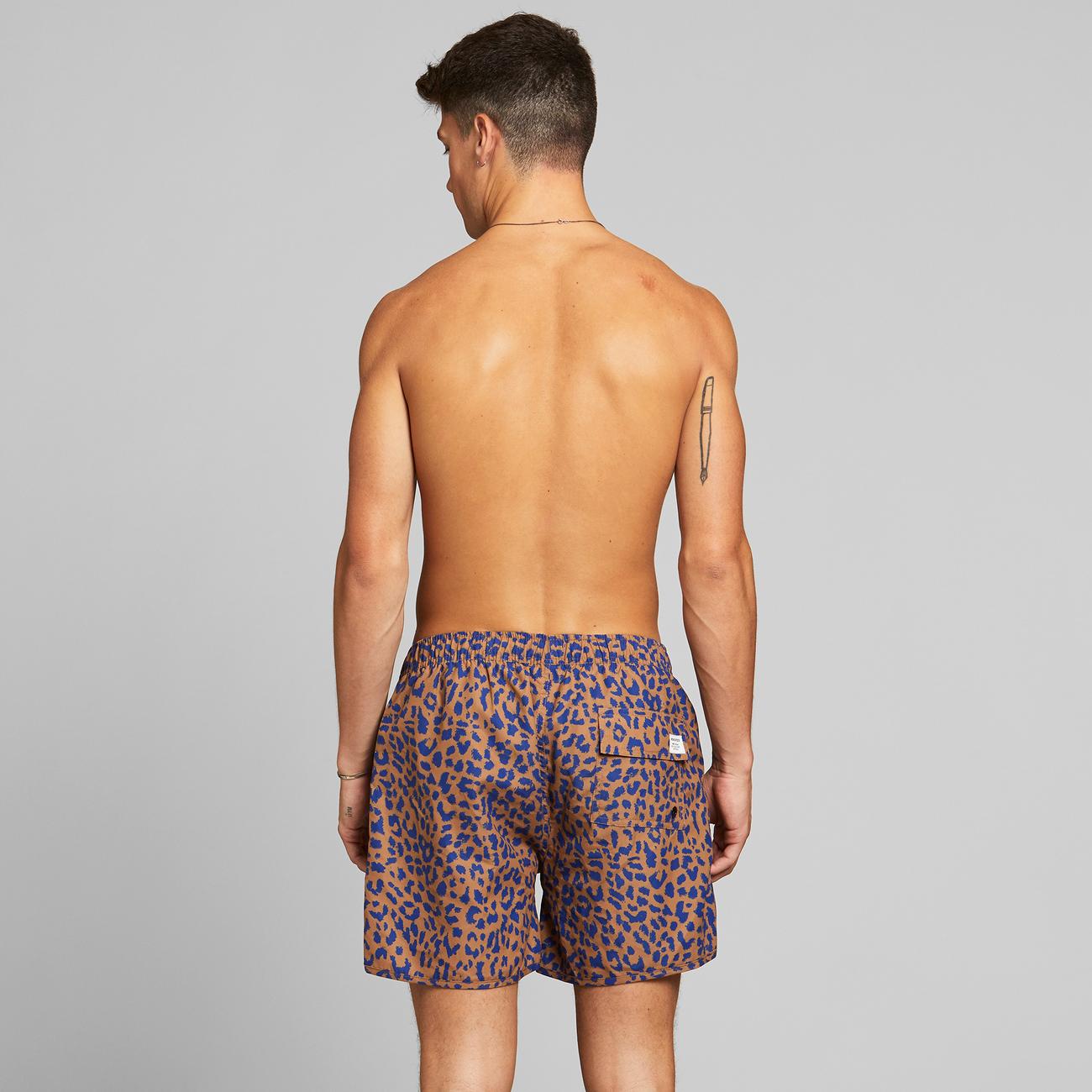 Swim Shorts Sandhamn Leopard Light Brown