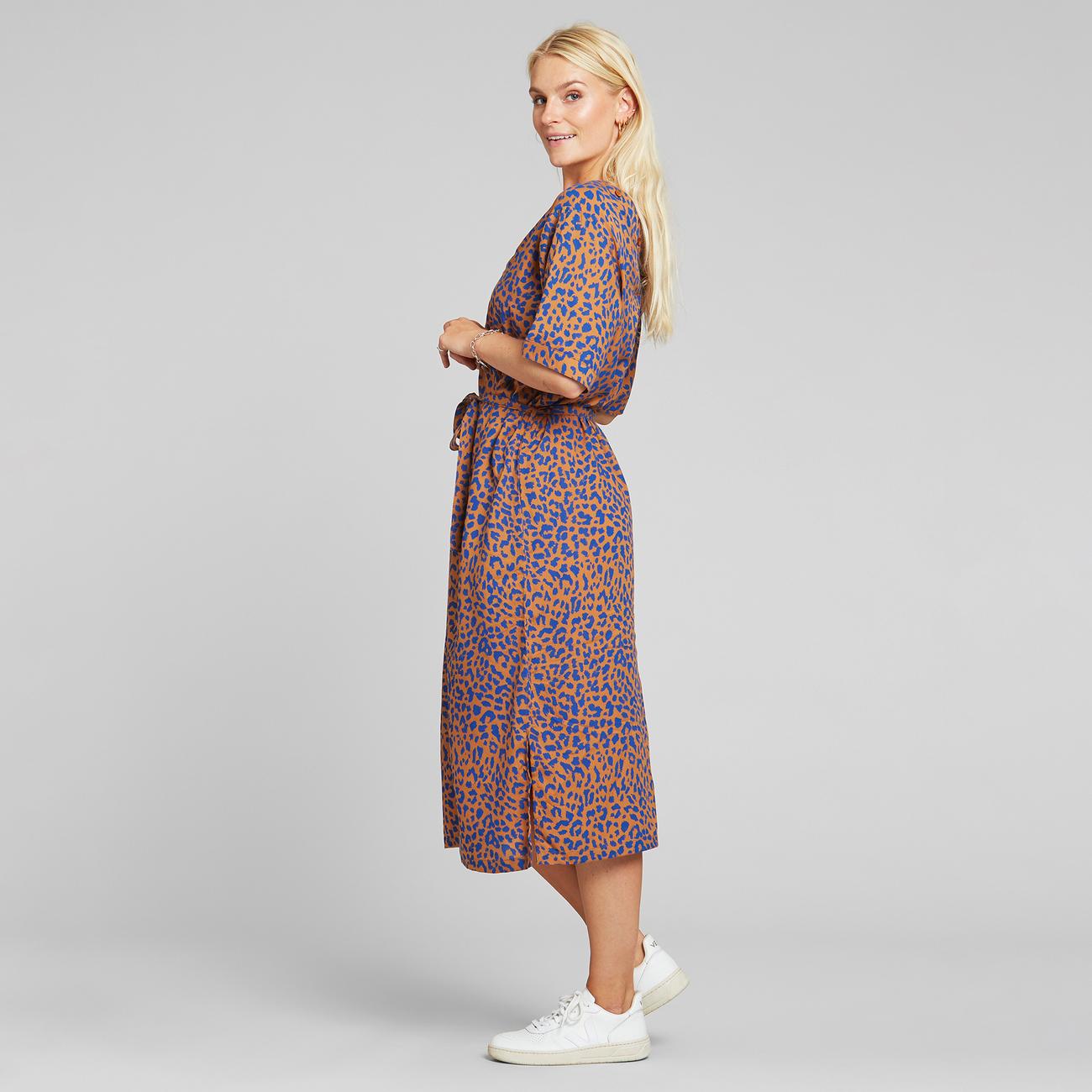 Dress Bornholm Leopard Light Brown