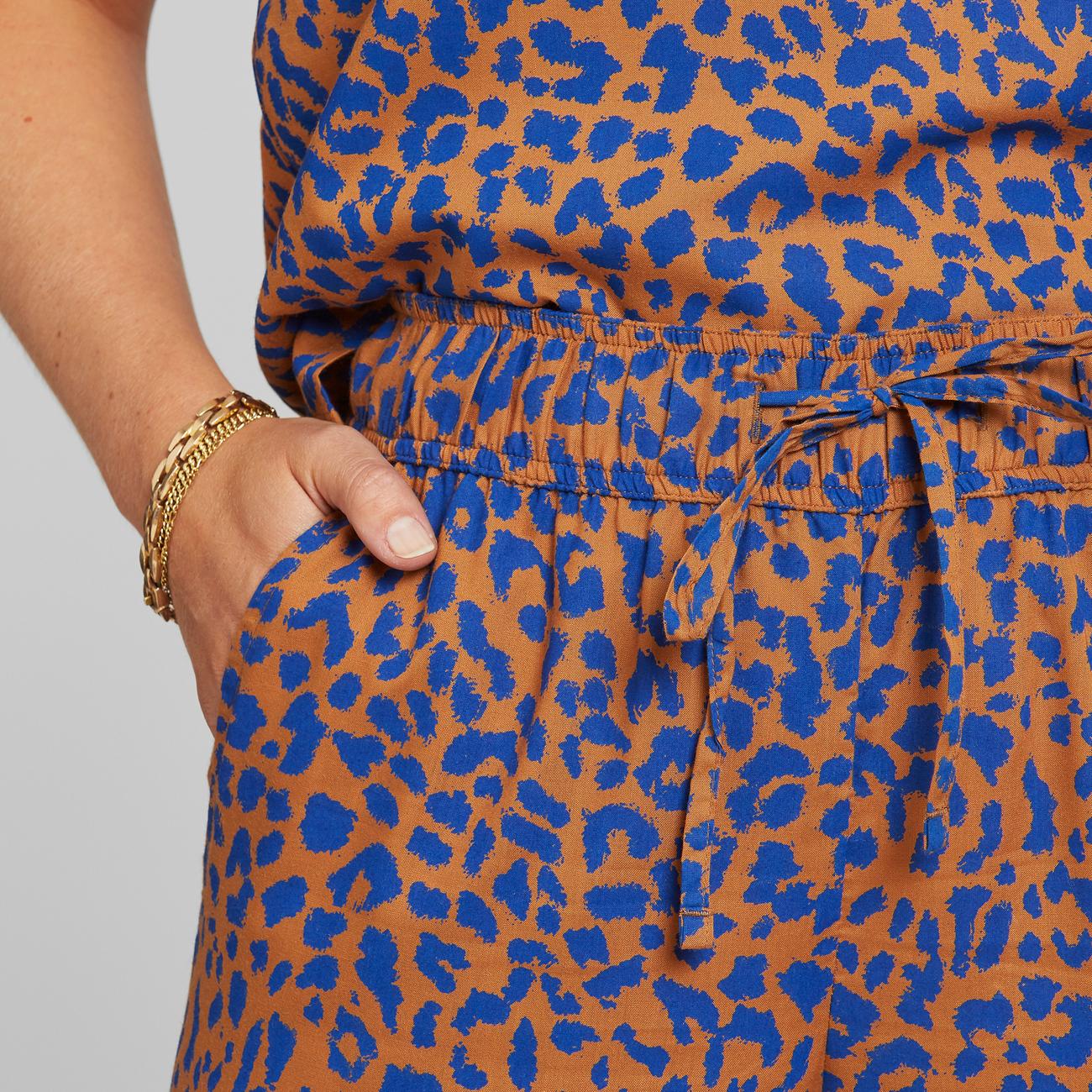 Pants Skagen Leopard Light Brown