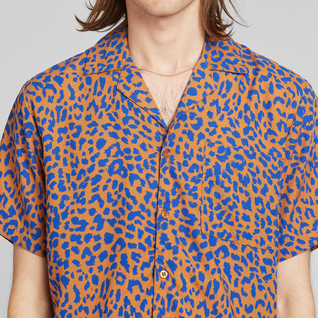 Shirt Short Sleeve Marstrand Leopard Light Brown