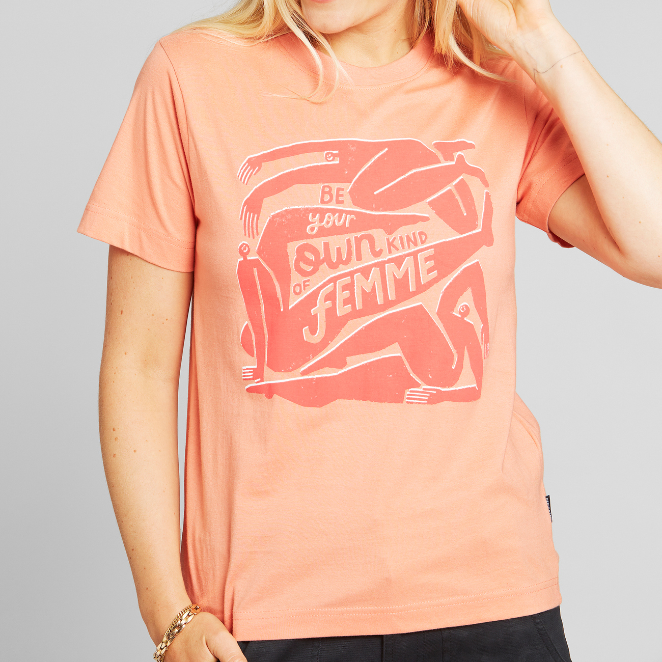 T-shirt Mysen Be Your Own Femme Coral