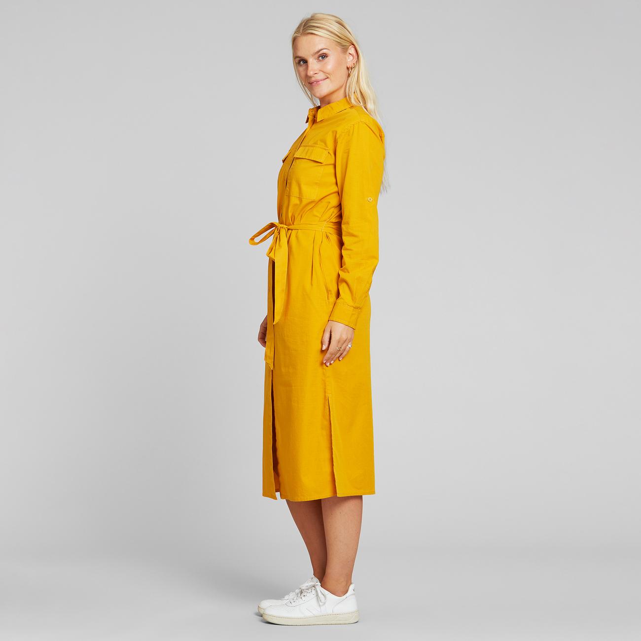 Shirt Dress Trondheim Golden Yellow