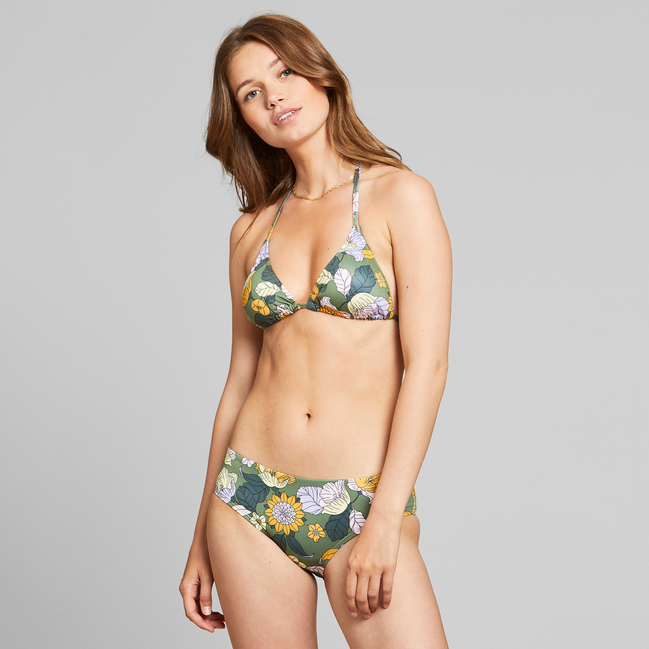Bikini Bottoms Lau Seventies Floral Green