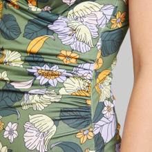 Wrap Swimsuit Klinte Seventies Floral Green