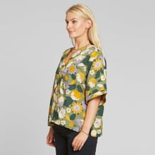 Blouse Odense Seventies Floral Green