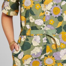 Jumpsuit Hunnebo Seventies Floral Green