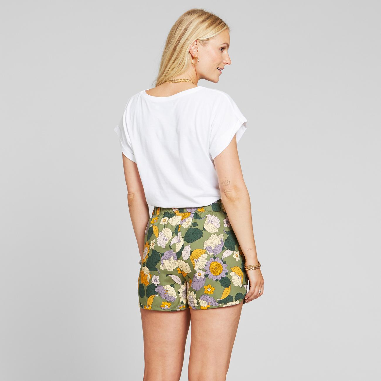 Shorts Sandvika Seventies Floral Green