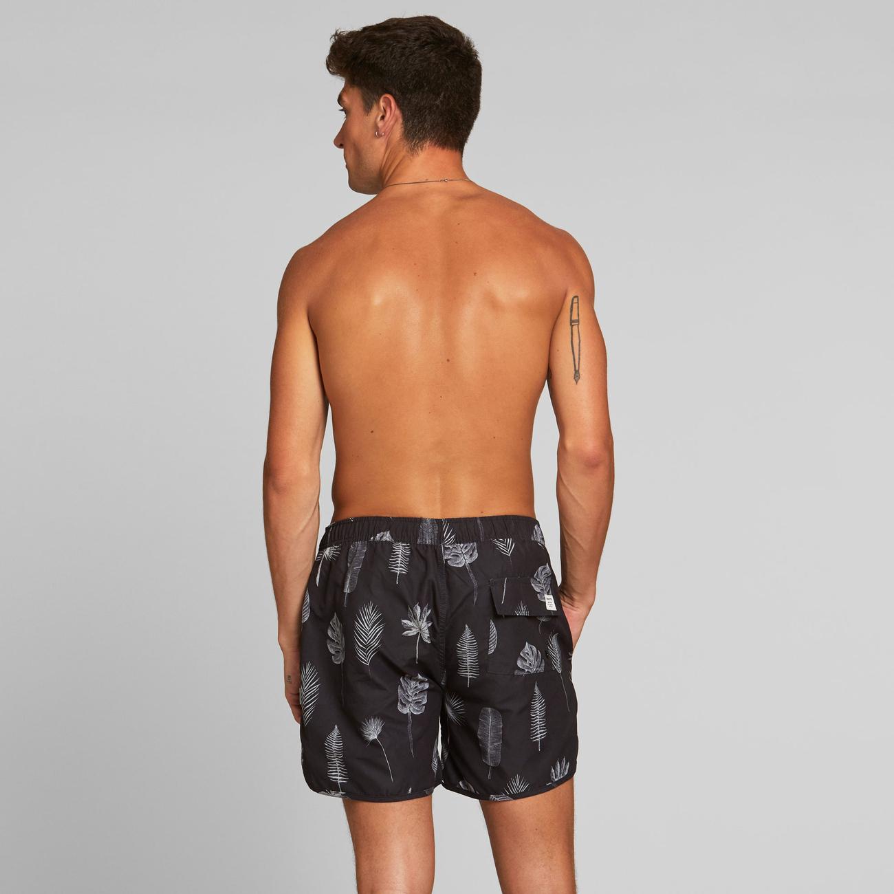 Swim Shorts Sandhamn Tropic Leaves Grey