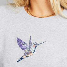 Sweatshirt Ystad Raglan Hummingbird Grey Melange