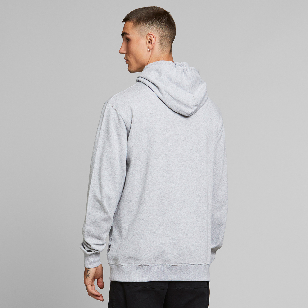 Hoodie Falun Local Planet Grey Melange