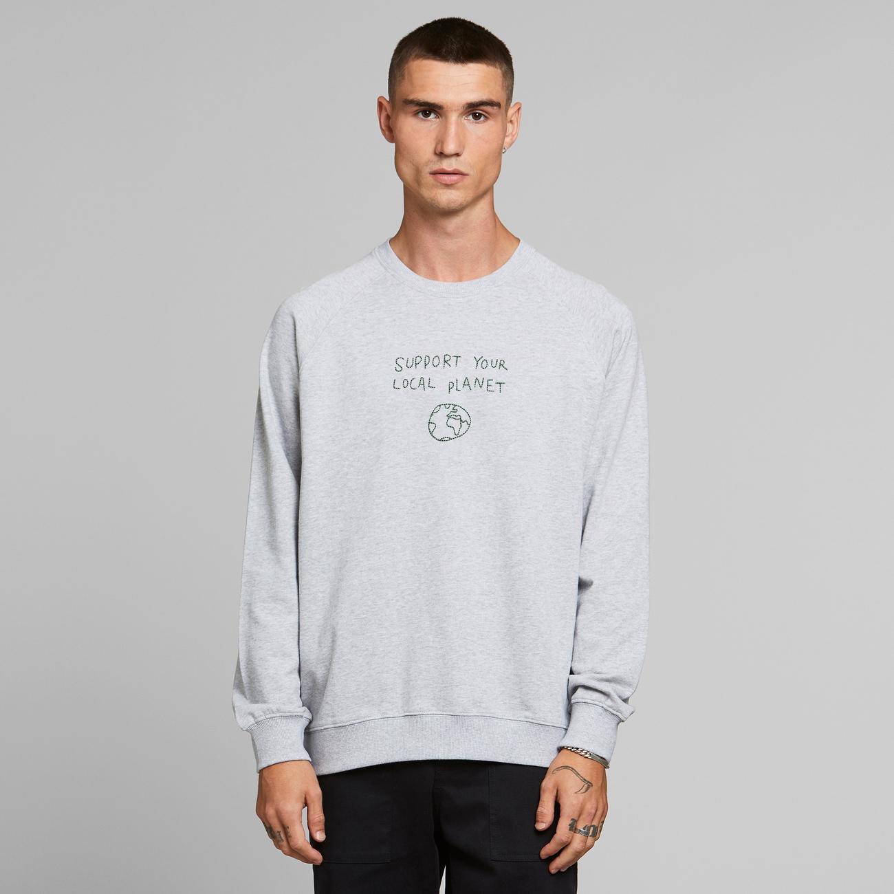 Sweatshirt Malmoe Local Planet Grey Melange