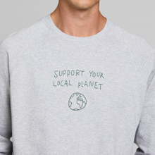 Sweatshirt Malmoe Local Planet Grey Melange
