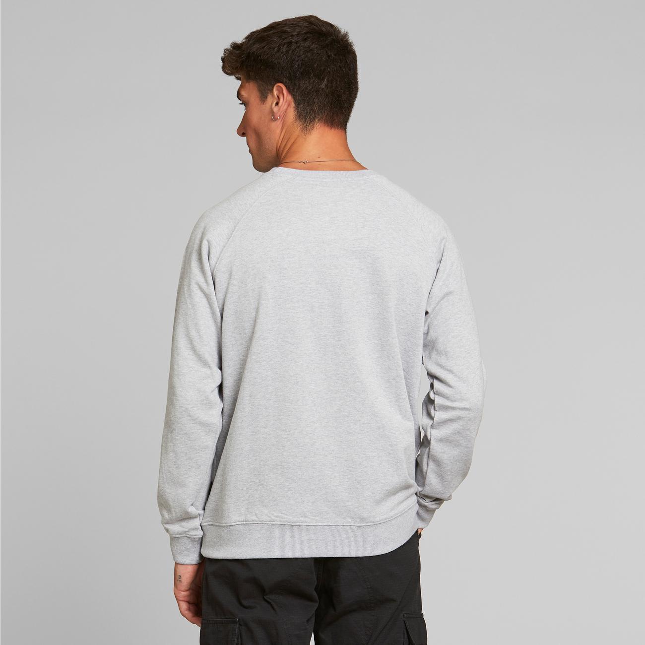 Sweatshirt Malmoe Peanuts Logo Grey Melange