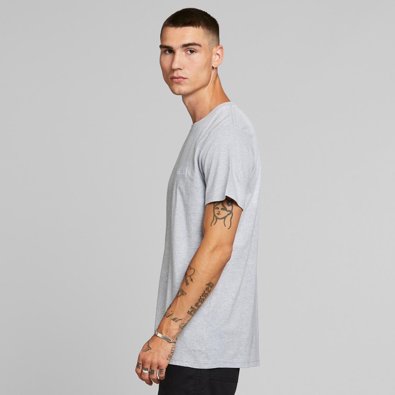 T-shirt Stockholm Dedicated Logo Grey Melange