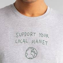 T-shirt Stockholm Local Planet Grey Melange