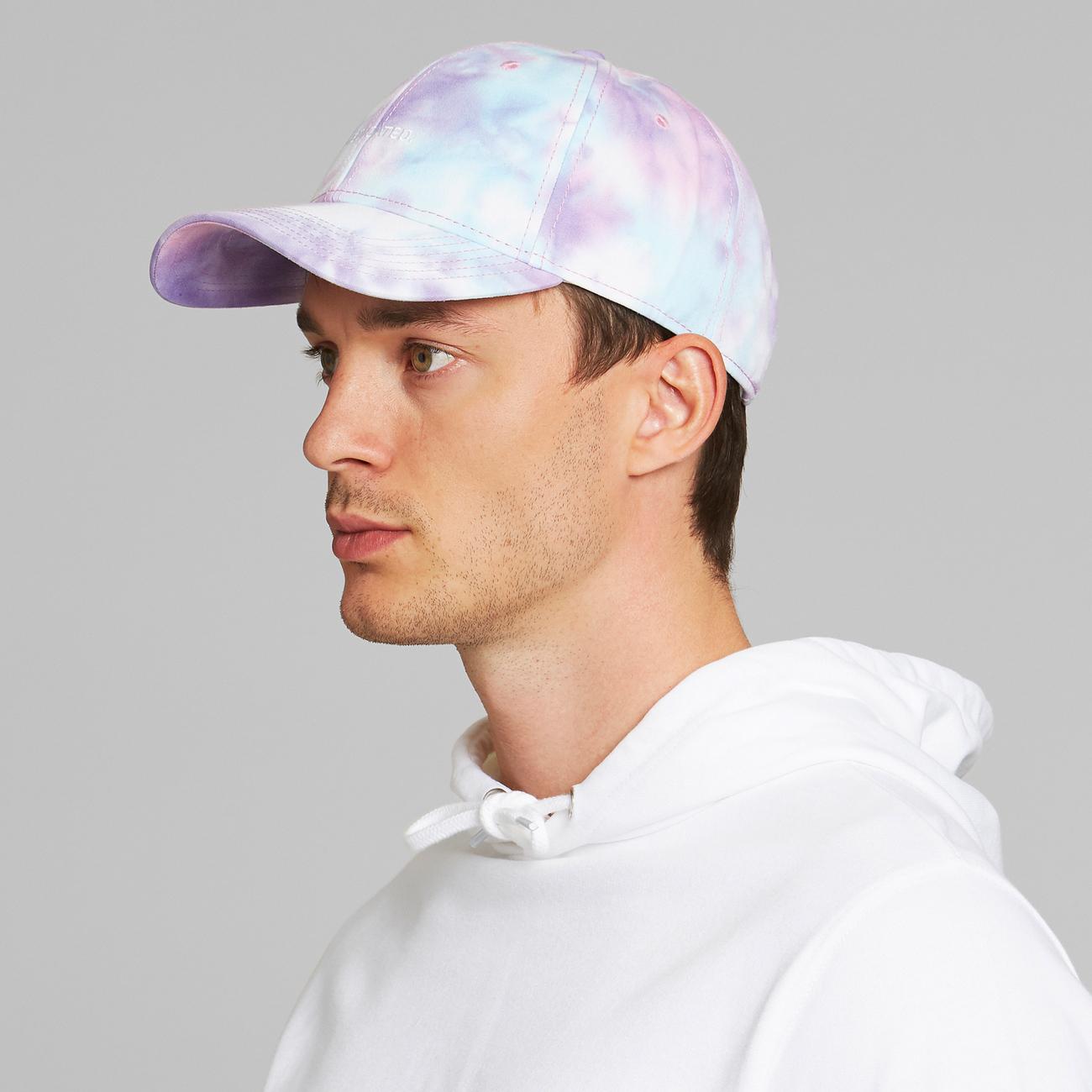 Sport Cap Tie Dye Logo Line Multi Color