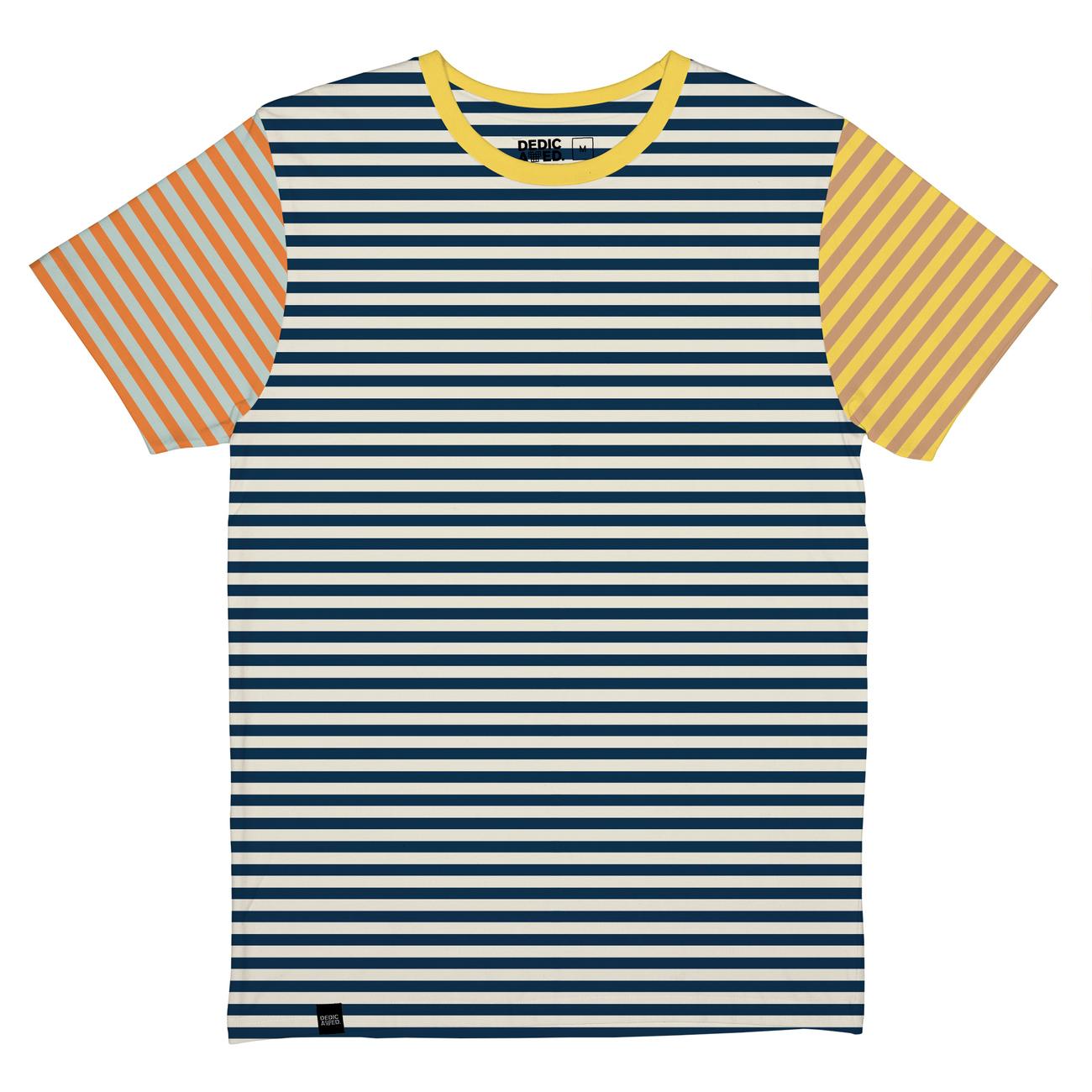 T-shirt Stockholm Block Stripes Multi Color