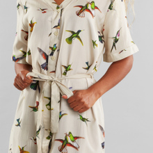 Dress Bornholm Floral Hummingbirds Multi Color