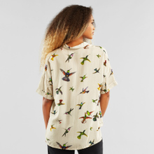 Shirt Short Sleeve Nibe Flying Hummingbirds Multi Color