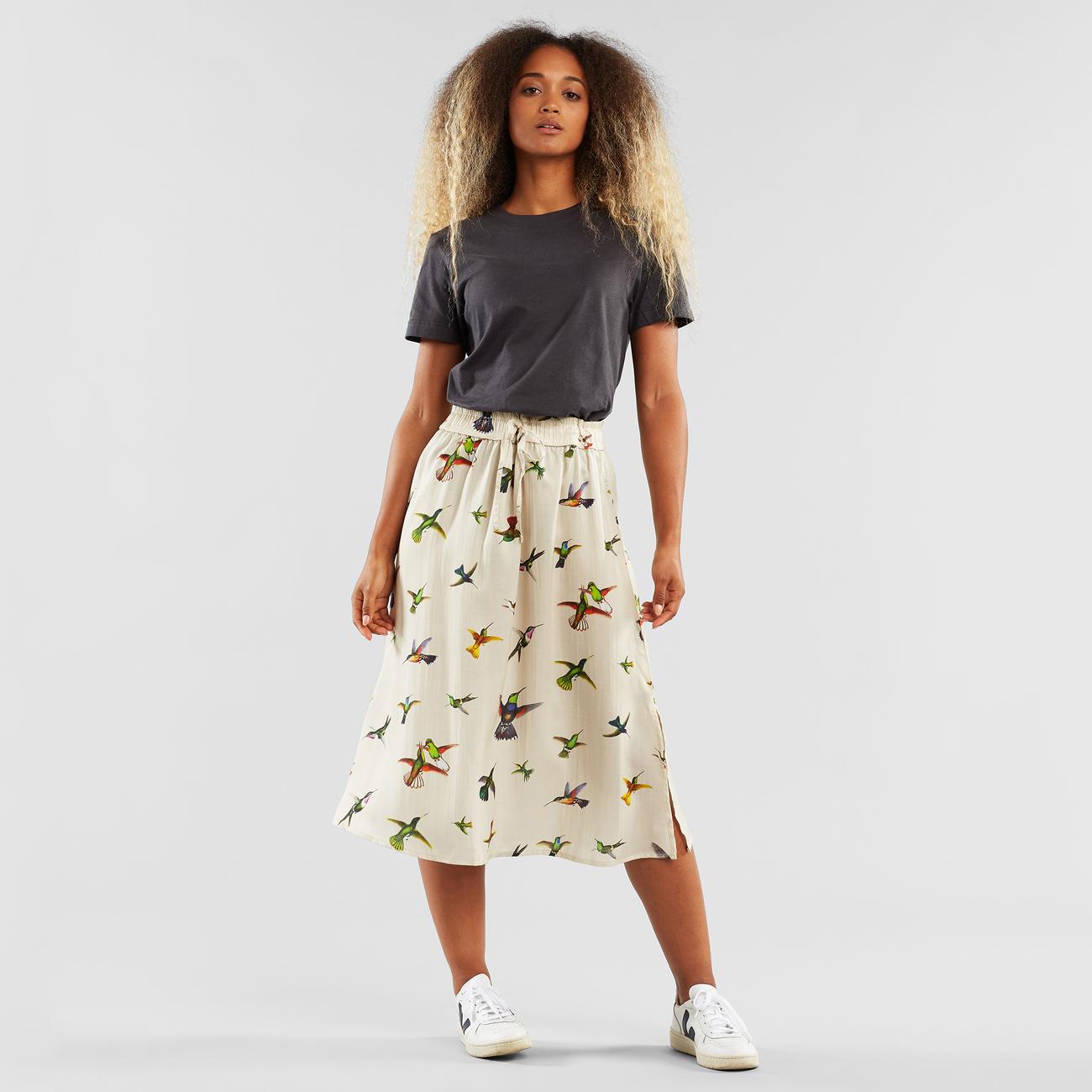 Skirt Klippan Floral Hummingbirds Multi Color