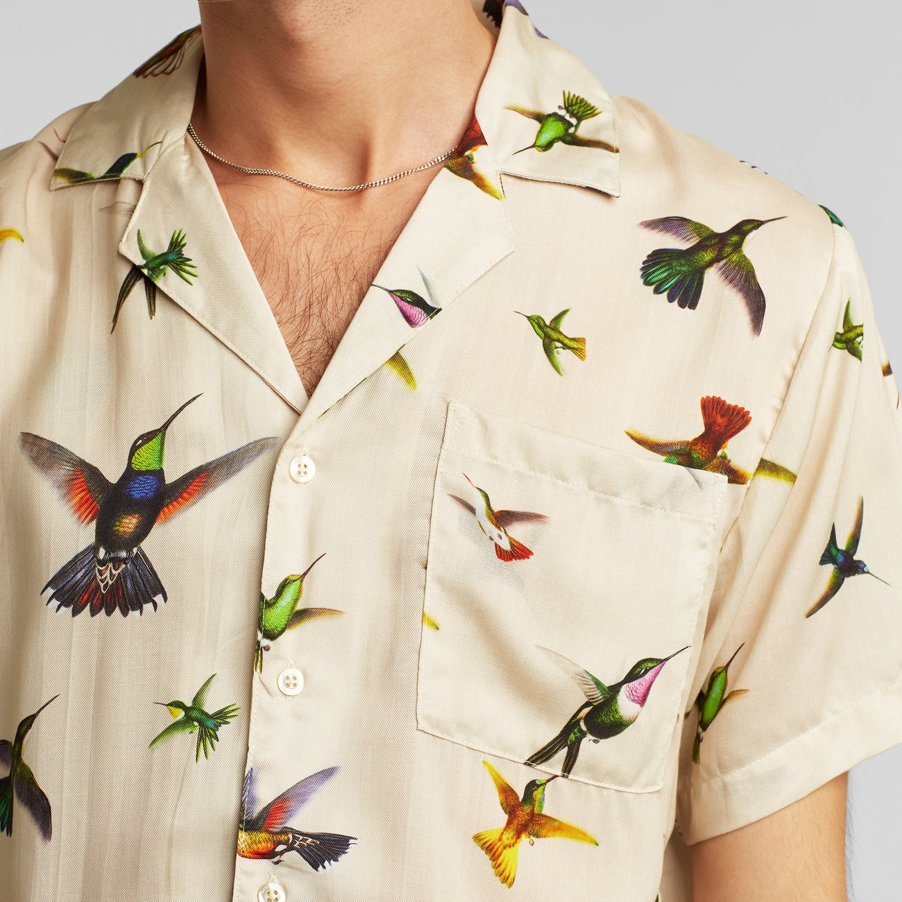 Shirt Short Sleeve Marstrand Flying Hummingbirds Multi Color