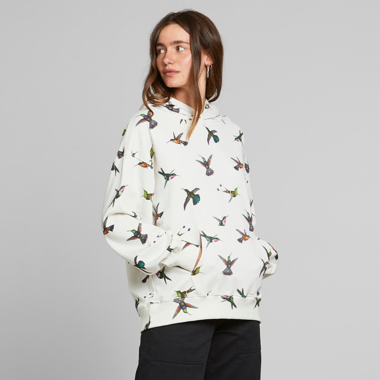 Hoodie Sundborn Hummingbirds Off-White