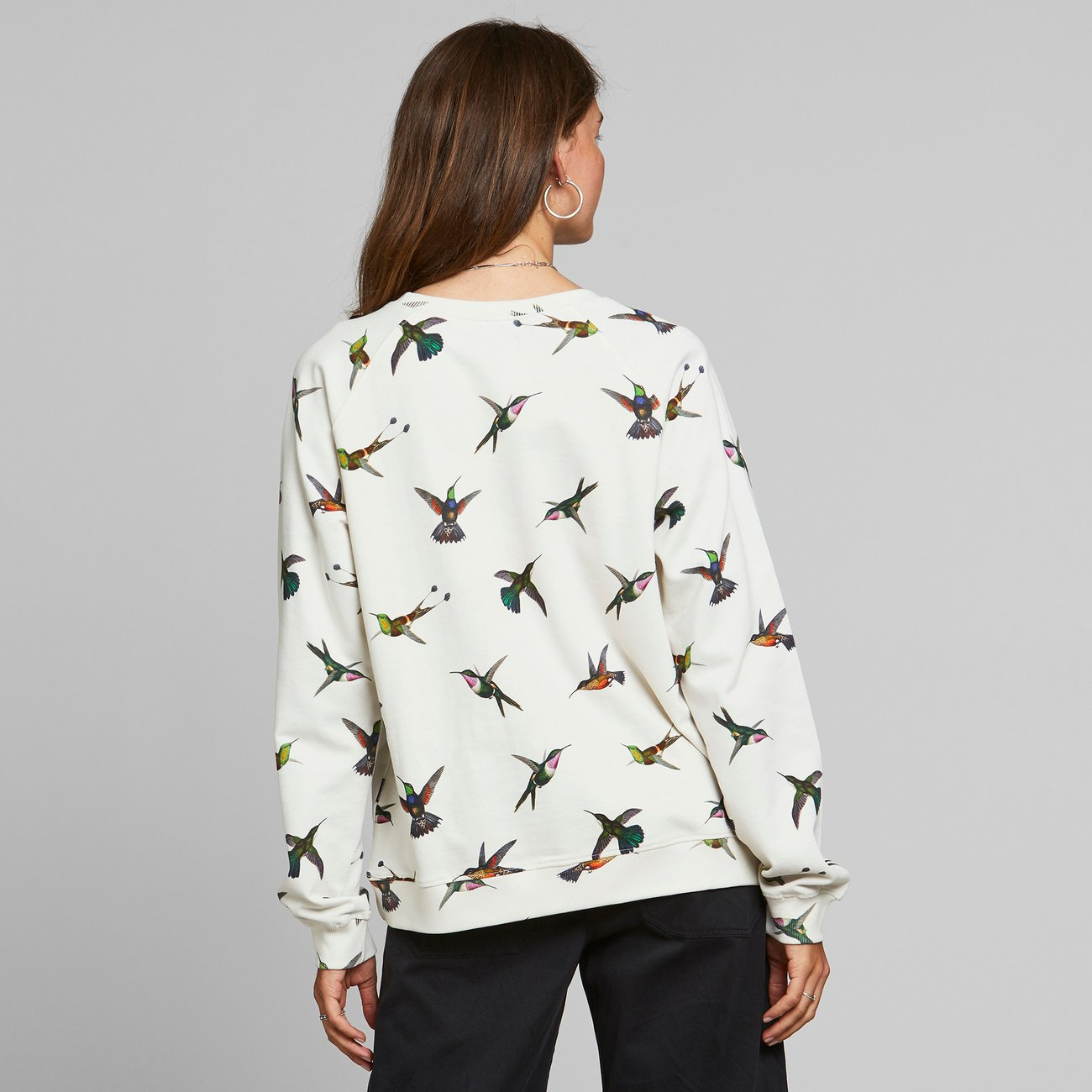 Sweatshirt Ystad Raglan Hummingbirds Off-White